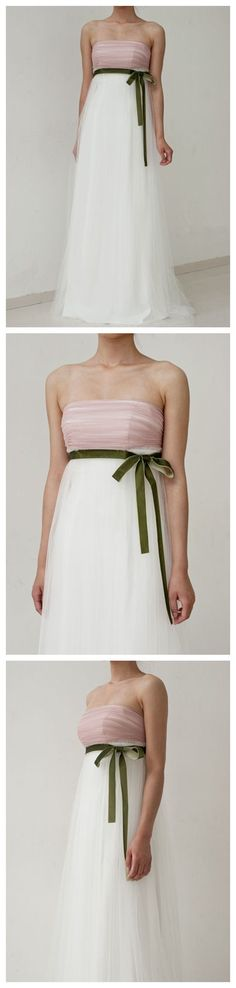 Double Colored Net Ruffle Charming Dress with Sashes