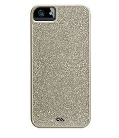 pretty champagne sparkle iphone 5 case by Case Mate. Silicone.
