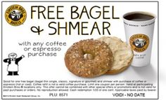 Einstein Brothers: Free Bagel and Shmear w/purchase