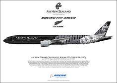 """Air New Zealand """"All Blacks"""" Boeing 777-319ER ZK-OKQ c/n: 40689/984"""
