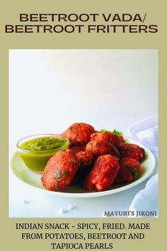 Beetroot Vada is a delicious, crunchy, spicy take on the traditional Sabudana Vada. Vada is fritters and in this case roasted or boiled beetroot is added to the traditional mashed potatoes, spices and soaked tapioca pearls mixture. Ideal snack option, for starters or as a part of a meal not only for fasting days but whenever you want to. #fastingrecipe #beetroot #snack #glutenfree #vegan #friedsnack #indiancuisine Delicious Recipes, Vegetarian Recipes, Tasty, Yummy Food, Sabudana Vada, Fast Day, Tapioca Pearls, Food Hub