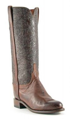Womens+Lucchese+Ranch+Hand+Boots+Chocolate+#N9591+via+@Allens+Boots