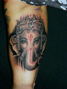 Tattoo picture tagged with Arm Religious Ganesh Tattoo, made by Da Silva Tattoo from Germany. Wicked Tattoos, Dope Tattoos, Dream Tattoos, Music Tattoos, Wrist Tattoos, Arm Tattoo, Ganesh Tattoo, Mandala Tattoo, Tattoo Shading