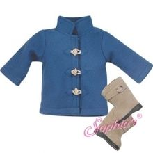 "The perfect winter outfit that fits 18"" american girl dolls. Use special discount code PIN10"