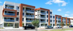 Fusion Apartments Gungahlin. Such a great colour in the facade design here.