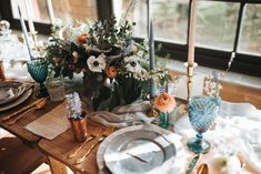 Dusky Blue & Copper Wedding Inspiration - Dusky Blue & Copper Wedding Inspiration From The Pumping House Ollerton With Images From Pear & Bear Photography Styling by Save The Date Event Stylists Bronze Wedding Colours, Copper Wedding, Wedding Colors, Teal Blue Weddings, Blue Wedding Flowers, Wedding Bouquets, Wedding Flower Inspiration, Wedding Ideas, Wedding Themes