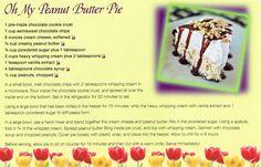 Oh my peanut butter pie Braum's recipe