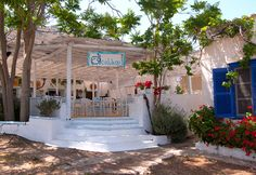 Enalion Restaurant, Vlichos, Hydra Island Greece, taking bookings for Greek Pascha Sunday lunch! Available throughout the summer for lunch and as a terrific wedding reception venue.