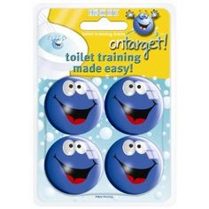 On Target Infant Toilet Training Balls -   if you have a boy who needs something in the toilet to actually aim at, then these are fab.  Suitable for all ages too! ;o)