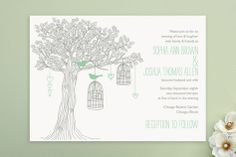"""Love Let Loose"" - Customizable Unique Wedding Programs in Green by Paisley Tree Press. Whimsical Wedding Invitations, Wedding Invitation Samples, Wedding Stationary, Invitation Design, Invitation Ideas, Invites, Wedding Favours, Our Wedding, Dream Wedding"