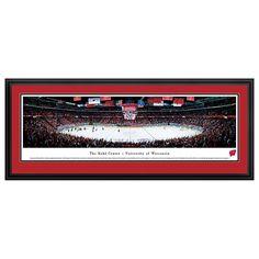 Wisconsin Badgers Hockey Arena Framed Wall Art, Multicolor
