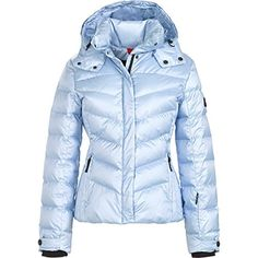 Bogner  FireIce Sally 3 Metallic Jacket  Womens Glacier 6 * Click image to review more details. (This is an affiliate link)