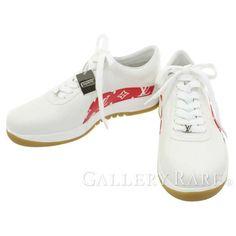 ルイヴィトン スニーカー シュプリーム コラボ モノグラム Sport Sneaker 1A3EQ5 LOUIS VUITTON Supreme 限定 レア 靴 メンズサイズ8