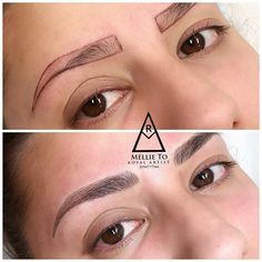 Eyebrows Microblading by Mellie. For appointments please visit our website www.mbeautystudio.com price: $450-$600 with one free Touch up within 4-10 weeks. ✍Microblading is a semi-permanent tattoo with hair strokes design. what are the procedure? We use a micro needle with pigment to create the hair strokes. Are you certified? Mellie is an Tattoo Artist licensed by the state of CT and certified with Phibrows Academy as an Royal Artist . She is also an Microblading and eyelash Expert