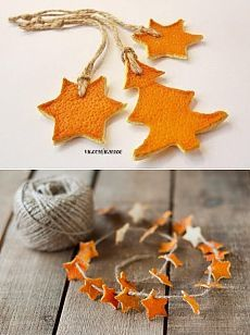 Orange peel Christmas craft. Awesome idea!!!