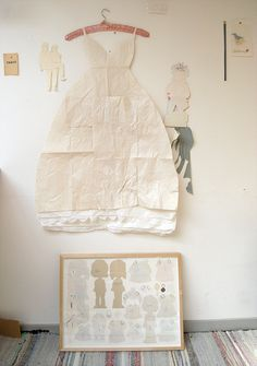 paper dress by Camilla Engman