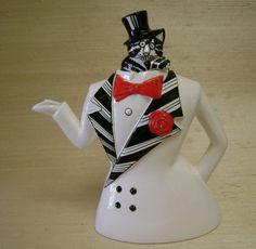 Kliban Cat in Top Hat Tea Pot by Sigma The by BizarreBazaare, $80.00