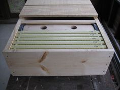 horizontal beehive compatible w/ Langstroth frames