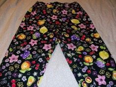 "Briggs New York Capri's w/ Stretch Size 6P Colorful Floral and Fruit 19"" Inseam #BriggsNewYork #CaprisCropped"