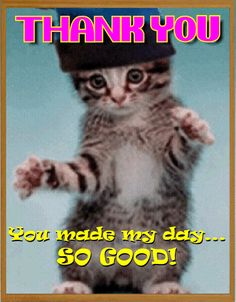 Send this warm thank you card to show how much you appreciate your friend. Free online Thank You I'm So Happy Card ecards on Thank You Thank You Images Funny, Thank You Pictures, Thank You Wishes, Thank You Quotes, Morning Inspirational Quotes, Inspirational Prayers, Morning Quotes, Thanks Gif, Appreciation Quotes For Him