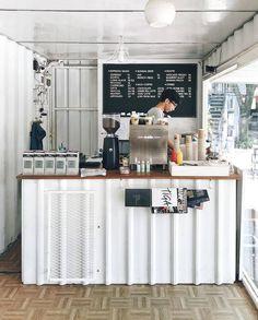 30 Ideas Furniture Shop Interior Inspiration For 2019 Cafe Shop Design, Cafe Interior Design, Coffee Cafe Interior, Small Cafe Design, Small Coffee Shop, Coffee Store, Container Coffee Shop, Mein Café, Coffee Bar Design