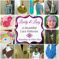 Fiber Flux...Adventures in Stitching: Lovely And Lacy! 25 Beautiful Lace Patterns