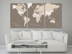 Custom quote world map canvas print gold foil effect world map custom quote world map canvas print gold foil effect world map with cities color combination rossie room ideas pinterest products gumiabroncs Choice Image
