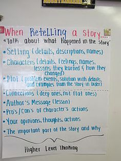 How to retell a story