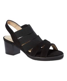 Black Fuimetto Leather Sandal