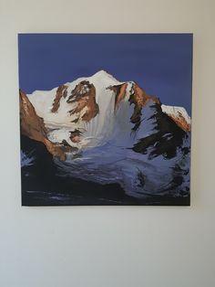 Mountains, Nature, Painting, Art, Mont Blanc, Art Background, Naturaleza, Painting Art, Kunst