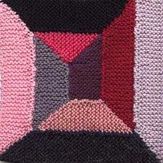 Shortrow Spiral Afghan Square