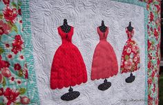 """""""lady in red"""" quilt by lekaquilt"""