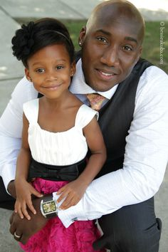 How adorable daughter and her daddy