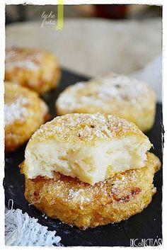 DECORECETAS: Leche frita French Toast Roll Ups, Empanadas, Bagel, Doughnut, Rolls, Bread, Cooking, Breakfast, Desserts