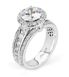 From Michael M. Collection Handcrafted pave, channel, and u - set diamond ring with bezel accents