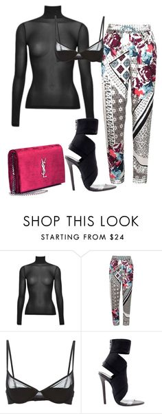 """""""#ContestOnTheGo #ContestEntry"""" by xyz-affairs ❤ liked on Polyvore featuring River Island, Maison Close, Yves Saint Laurent, contestentry and ContestOnTheGo"""