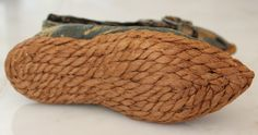 Extremely RARE Rope soled Silk Brocade Children's Shoes France Early Mid 18th C   eBay