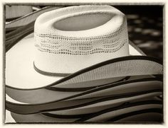 Black and White Alberta Canada, Calgary, Panama Hat, Cowboy Hats, Black And White, Silver, Image, Fashion, Moda