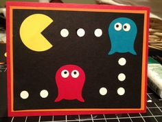 PAC-MAN Game Card for Any Occassion: Fun retro card for that Geek in your life.. $5,00, via Etsy.