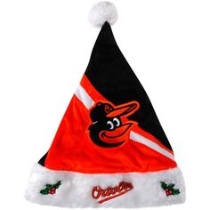 Baltimore Orioles Swoop Logo Santa Hat
