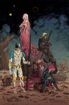 Prophet Strikefile is out this week. I'm super psyched I could be part of my favorite book on the stands at the moment. To celebrate, here's a lil' piece of fanart… Old Man Prophet, Diehard and Rein-East. Art And Illustration, Character Concept, Character Art, Concept Art, Design Club, Design Art, Comic Kunst, Comic Art, Fantasy Kunst