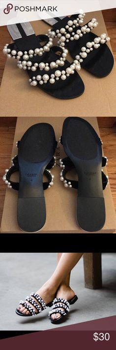Zara Pearly Slides Zara pearly slides from summer collection 2017. Never been worn. All pearls intact. Comes with original box. Zara Shoes Sandals