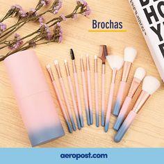 Kit de 12 brochas de maquillaje cada uno con una función especial para tu rostro. ¡Y SI NO TE GUSTA, LO DEVUELVES! #compras #aeropost #ofertas #makeup #maquillaje #shopping #colombia #junio #tiendaonline #regalo #sorpresa #cosmeticos #set #shoppingonline #brochas