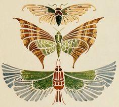 "Photo from album ""Модерн on Yandex. Art Nouveau Illustration, Botanical Illustration, Tiny Heart Tattoos, Gardenias, Art Deco Posters, Insect Art, Flower Aesthetic, Egyptian Art, Moon Art"