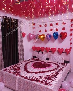 Romantic Room Decoration For Wedding Nught _________________________________________ Surprise Party Decorations, Wedding Night Room Decorations, Romantic Room Decoration, Birthday Room Decorations, Romantic Bedroom Decor, Valentine Decorations, Candle Night Dinner, Romantic Room Surprise, Wedding Bedroom