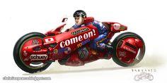 Akira Fan Art - Kaneda's Bike by ChristianPearce Futuristic Motorcycle, Motorcycle Art, Kaneda Bike, Akira Kaneda, Akira Anime, Motorbike Design, Concept Motorcycles, Bd Comics, Car Drawings