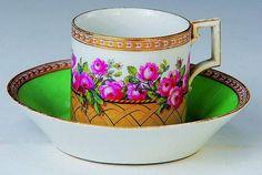 KPM Berlin, Tea Cup and saucer, 1780-90.,