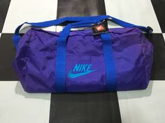 e084a1be36 Vintage Nike duffle Bag Nike gym bag Purple Blue Excellent condition 90s  Nike new with tag