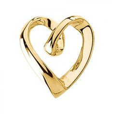 14k Yellow Gold Lone Heart Chain Pendant.... Available on www.buyerxpo.com