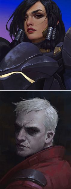 Pharah & Soldier 76 Portraits - https://www.artstation.com/artist/chome